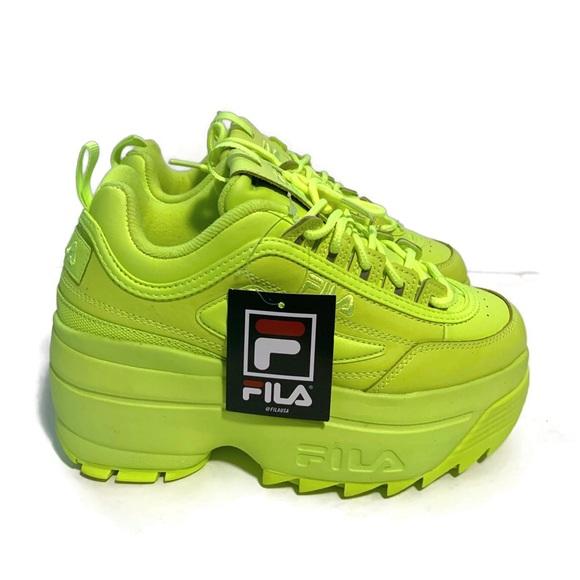 Fila Disruptor 2 Wedge Neon Green